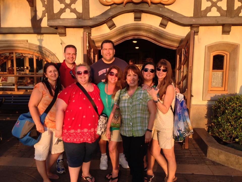 From left: Kathie, Marc, Jackie, Chris, me, Marisol, Amanda A and Allison