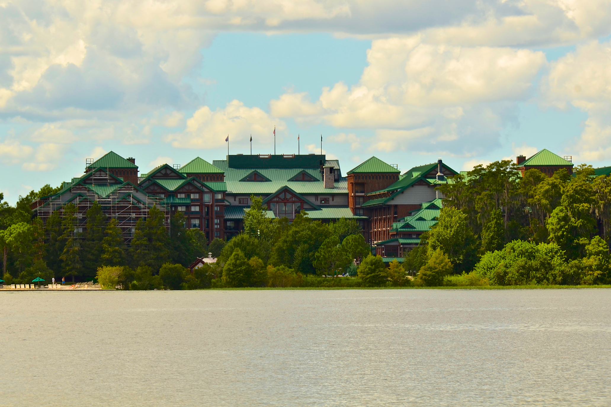 Wilderness Lodge from the water